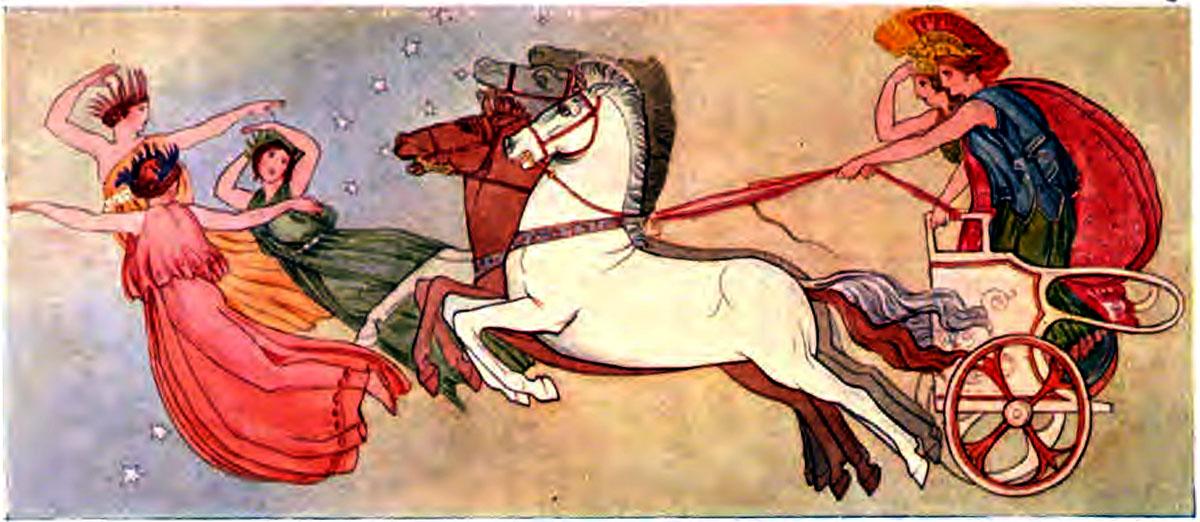 Iliad Here and Athene going to assist the Greeks - Iliaden af Homer - Résumé og fuld version Illustreret