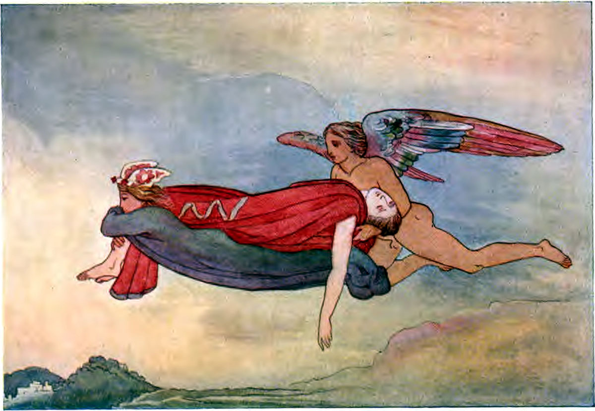 Iliad Sleep and Death conveying the body of Sarpedon to Lycia - Iliaden af Homer - Résumé og fuld version Illustreret