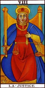 Justice Tarot Marseilles