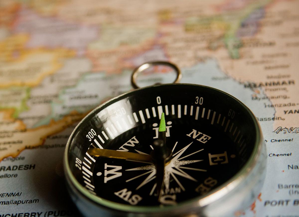 Drømmesymbol Kompas