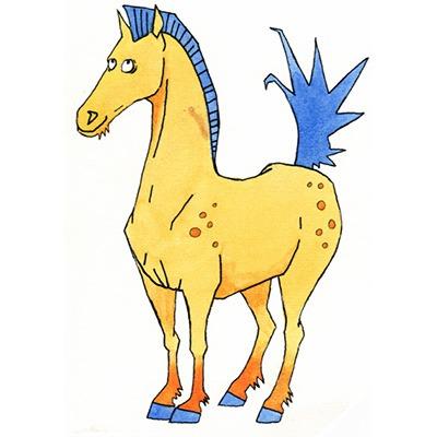 dyretegn-hest-kvadrat