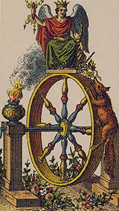 Skæbnehjulet Tarot Italiensk tarotsæt