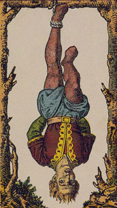 The hanged man Tarot Italien tarot set