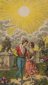 Tarot The Sun Italien tarot set