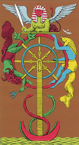 The Wheel of Fortune Tarot Oswald Wirth