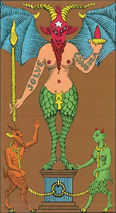 The devil Tarot Italien tarot set Oswald Wirth
